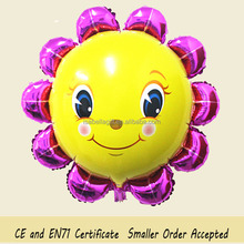 Aluminum foil balloons Sun flower shaped