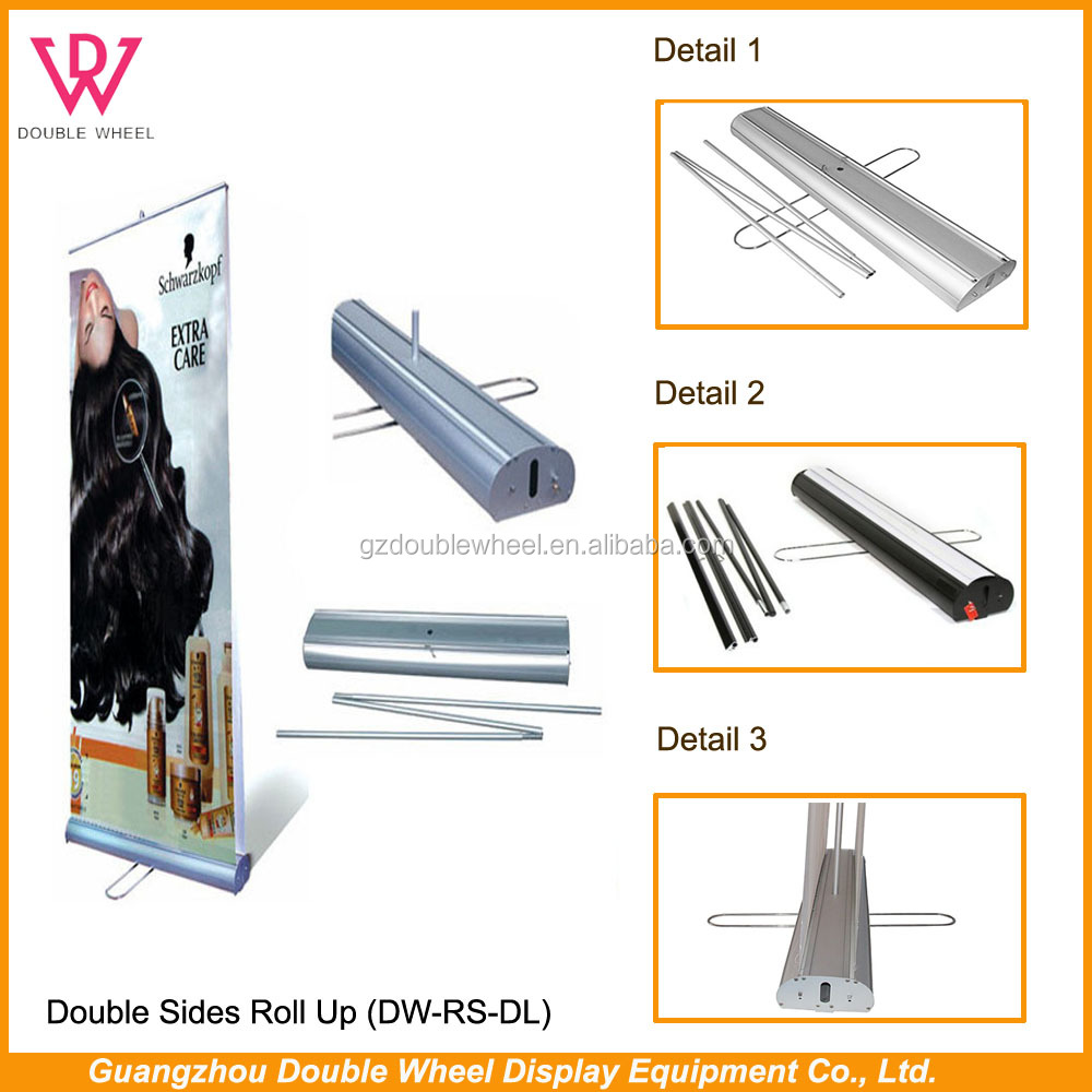 cheap scrolling roll up stand,screen displays signage roll up banners