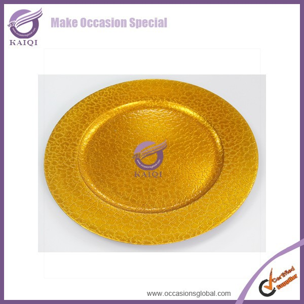 18274 plastic mobile phone antique imitation gold charger plate