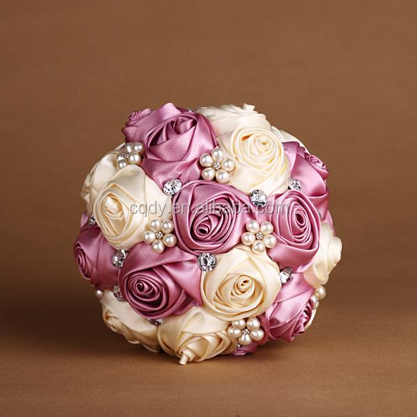 The New Design Pearl Bead Wedding Bouquet Bridal Bouquet Artificial ...
