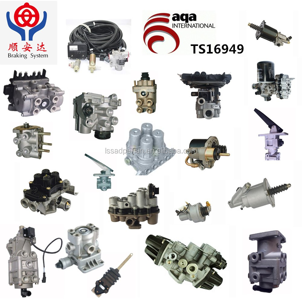 Trailer and truck air brake unloader valve/brake valve/hand control valve TS16949/wabco/volvo/man/iveco