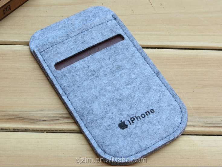 make to order high quanlity cell pouch felt mobile phone case