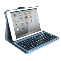 Made in China Linen Case for iPad mini 2 With Bluetooth Keyboard