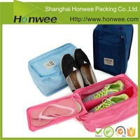 small zipper nylon mesh shoe bags for travel