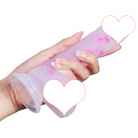 NEW ARRIVAL Manual Massage Wand With Suction Cup Beautiful Jelly Silicone Dildo For Women Pleasure