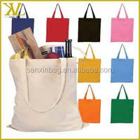 custom korean small black rope handle printed cotton canvas tote bag