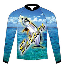 Wholesale High quality fishing jersey Dry Fit Mens Long Sleeve Fishing Shirt With High Performance