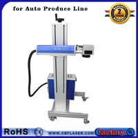 speedy flying laser marking pen engraving machine with automatic conveyor