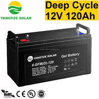 12V 120AH deep cycle volta solar recycle batteries