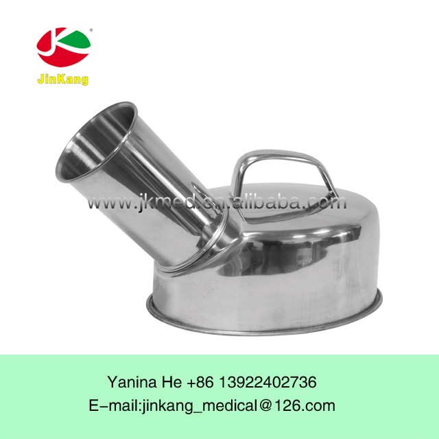 Stainless steel medical good quality sterilizable piss pee pot