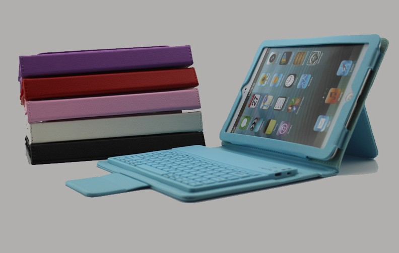 Factory Direct wireless bluetooth keyboard case for ipad mini 2