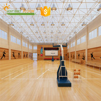 thermal insulation basketball court maple wood flooring with protection layer