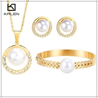 2015 Best selling Jewelry Bisuteria Fashion Jewelry Necklace And Bangle And Earrings Sets Wholesale China Factory
