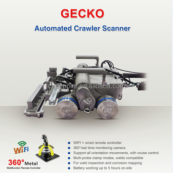 Doppler Crawler Scanner GECKO with phone wifi-wired remote controller,all-round real time monitoring camera