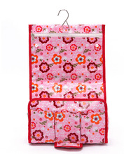 Oilcloth Floral Design Hanging Toiletry Bag Laminated Canvas Toilet Bag