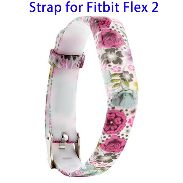 Various Choices Non-toxic Silicone Waterproof Wristband Strap for Fitbit Flex 2