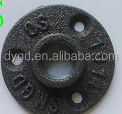 Galvanized Malleable Iron Pipe Fittings/1/2'' 3/4'' 1'' Black Malleable Iron Threaded Floor Flange used for antique furniture