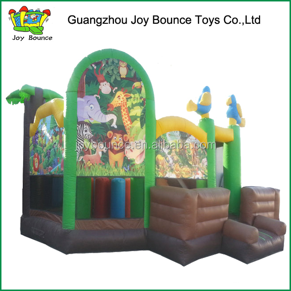 giraffe jungle animals jumping bouncy house,lion inflatables animals castle