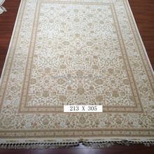 baby's breath hand knotted wool silk mixed rugs indian wool silk prayer rugs