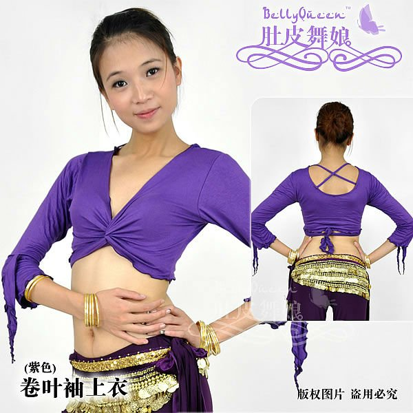 Cotton belly dancing tops,belly dancing clothes,BellyQueen