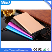 Super slim high capacity 8000mAh portable mobile power bank charger with dual output and LED torch for iPhone