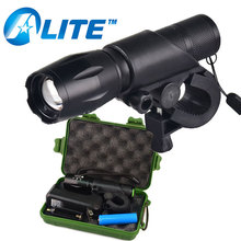 LED Flashlight Bike Front Light Waterproof IP66 Rechargeable Bicycle Light