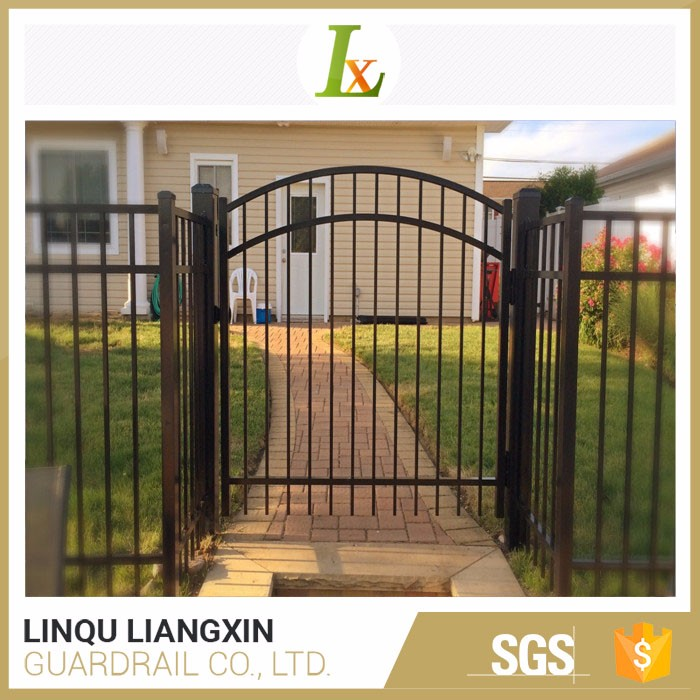 Top Fence Manufacturer Steel Zinc Strong Customizability Cheap Wrought Iron Gates