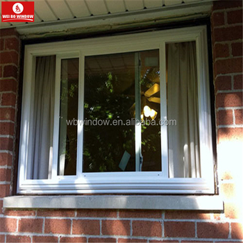 Two track small sliding window pvc window for container house