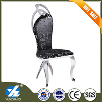 hot sale luxury stainless steel metal banquet chair