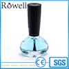flat triangular shape 14ml glass nail polish lacquer packaging 0.5oz empty nail polish bottle with ball and black cap