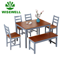 Simple Morden Cheap pine wood kitchen <strong>furniture</strong> Restaurant Dining Tables and 6 Chairs