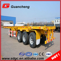 Heavy duty container chassis 3 axle 40ft skeleton semi trailer for truck trailer