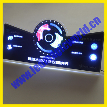 2016 New Product RGB color Programmable flashing led light box animated led sign