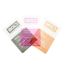 Free Sample Plastic Visiting Business/ Name Card Transparent Membership Card