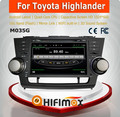 HIFIMAX Android 4.4.4 automobile dvd gps for Toyota Highlander car navigation for Toyota Highlander with car accessories