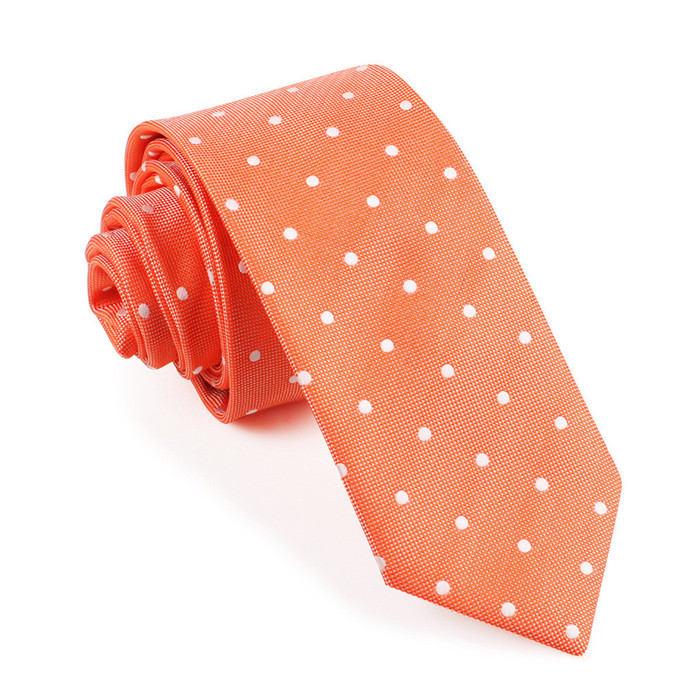 Cheap classic maroon tie with white dot