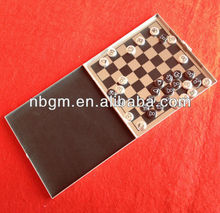 Magnetic Chess Set In Alu Case/magnetic travel game/ludo/chess/checker