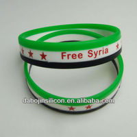 hot selling charitable relief free syria bracelet free syria wristband