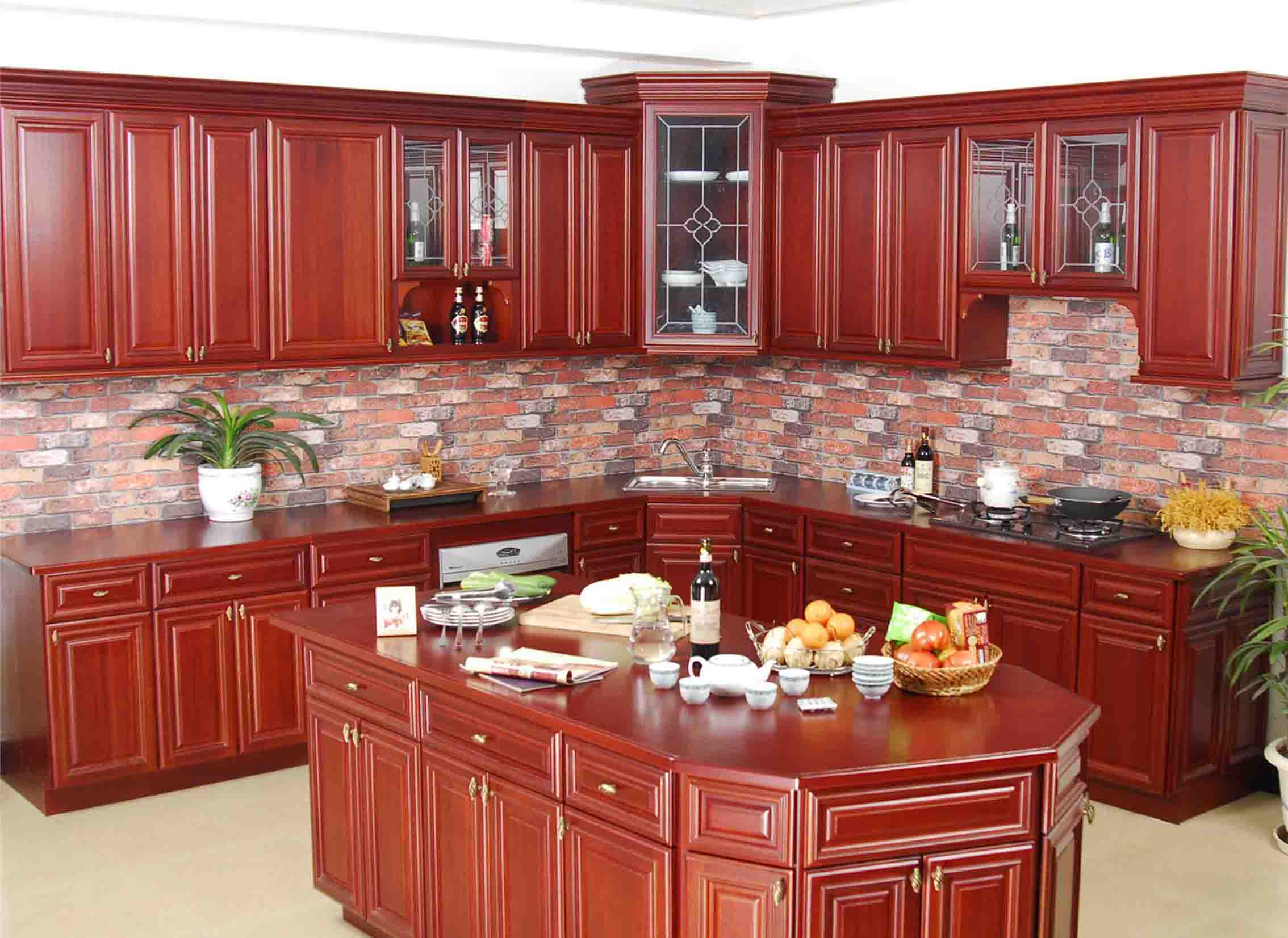 2014 Hot sales -Traditional Solid Wooden Kitchen Cabinet