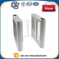 Smart RFID card reader automatic access control with fingerprint scanner swing gate