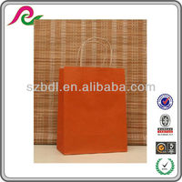 Orange department store handle paper shopping bags export to America