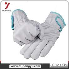 Ce certification hand protection cotton liner electrical labour split leather safety ab grade leather work gloves