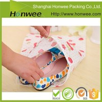 printed satin cotton fabric travel wholesale drawstring shoe bag