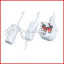 specialized in salt lamp power cord with e14 lamp holder with UK BS plug Shenzhen Kuncan