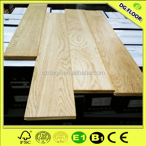 China manufacturer 12mm unfinished white oak parquet laminate flooring