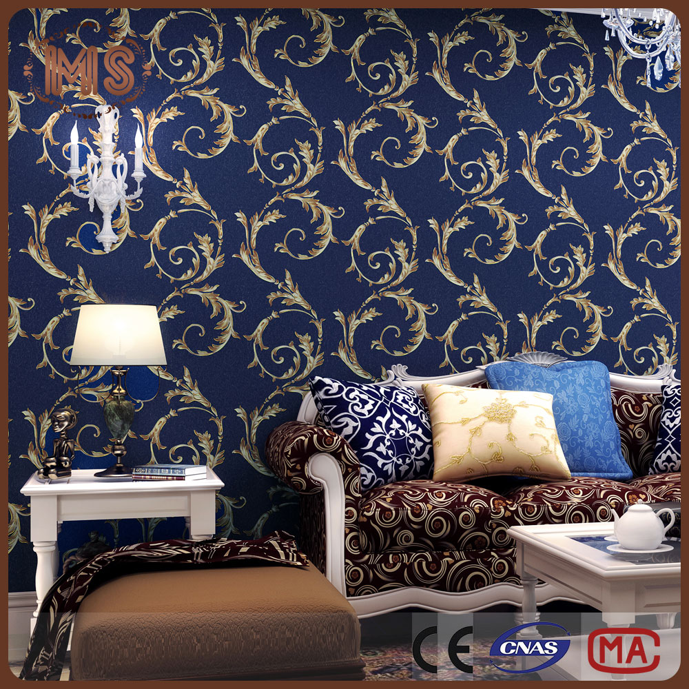 Stretched clear collocation solvent paintable classical design non woven wallpaper for home in roll