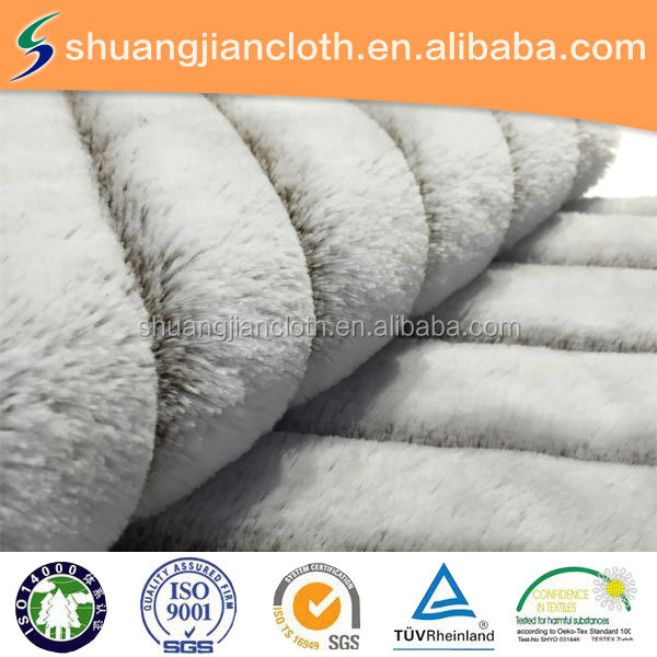 New style discharge printing plush Fabric for home textiles