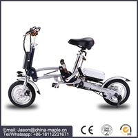2017 Super light folding electric bike/electric bicycle/ebike