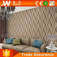 Latest New Contemporary European Designs 3D Space Wallpaper with PVC Washable