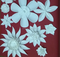 white wedding backdrop paper flowers decoration